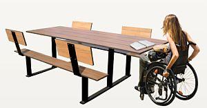 Picknick-Tisch RIGA, l�¤ngere Version/Rollstuhlgerecht