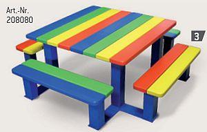 Kinder Picknick-Tisch in Kindergarten und Grundschul-Version