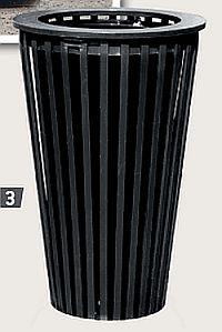 Abfallkorb LOFOTEN, Stahl, Bodenplattenversion