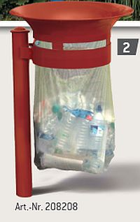 Abfallkorb VALENCIA, Eco-AusfÃ?Æ?Ã?¼hrung, mit Kopf Agora