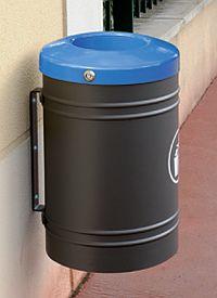 Abfallkorb ESTEREL 40 Liter - Wandhalterung