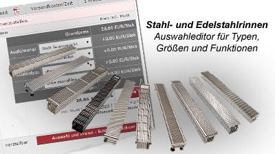 Stahl - und Edelstahlrinnen