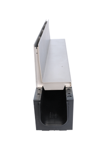 Schwerlast-Kunststoffrinne Kufor mit Schwerlast-Schlitzrinnenaufsat