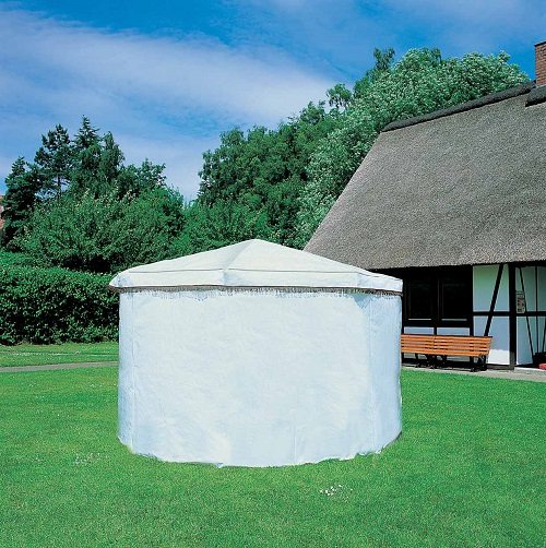 Ersatzdach für Pavillon Rosenheim in GRÜN Gartenlaube Holzpavillon Dach