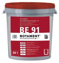 BOTAMENT® BE 91 Bitumen-Dickbeschichtung 1K (BOTAZIT®) 360.00Eimer/Palette  ,Farbe:schwarz ,Gebinde: