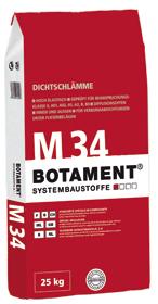 BOTAMENT® M 34 - Dichtschlämme (BOTAZIT®)