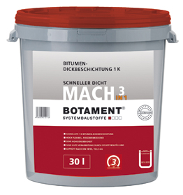 BOTAMENT® MACH 3in1 - Bitumen-Dickbeschichtung 1k (BOTAZIT®)