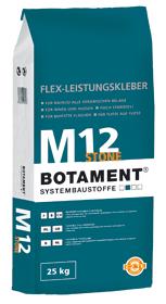 BOTAMENT® M 12 Stone - Natursteinmörtel Dünnbett/Fließbett (BOTACT®)