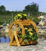 Holz Blumenrad