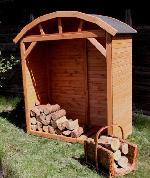 Holz Kaminholzschrank Teterow