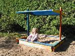 Holz Sandkasten Nadine 140x140 mit Sonnensegel