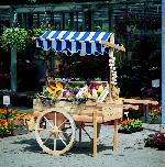 Holz Marktwagen