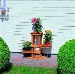 Holz Blumenpodest 1/Stck  ,Länge:60cm ,Breite:24cm ,Höhe:56cm