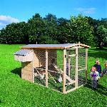 Holz Hühnerstall 1/Stck  ,Länge:190cm ,Breite:166cm ,Höhe:166cm