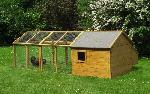 Holz Kleintierhaus mit Auslauf