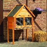 Holz Kleintierstall  SUSI mit Spitzdach