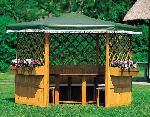 Holz Pavillon Marburg 1/Stck  ,Länge:120cm ,Breite:30cm