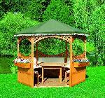 Holz Pavillonserie Palma 1/Stck