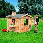 Holz Kinderhaus Villa Spatzennest, natur 1/Stck ,L
