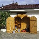 Holz Geräteschrank Roma