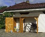 Holz Schleppdach 1/Stck ,Breite:178cm ,Tiefe:70cm ,Höhe:188cm