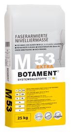 BOTAMENT® M 53 Extra - Faserarmierte, zementäre Nivelliermasse (BOTACEM®)