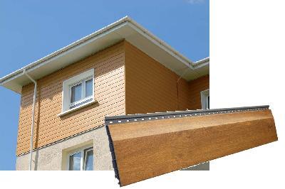 Vinylit vinyPlus Fassaden-Profil - Rund- o. Stuelpprofil