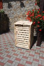 Holz Mülltonnenbox Vario III