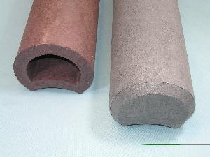 Hohlkehlpalisaden Recycling-Kunststoff Hohlprofil 1/Stck  ,Durchmesser mm:110 ,Länge mm:800 ,Setzmaß