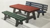 Kinderbänke und Tische CANETTI und TIVOLI (Trier) aus  Recyclingkunststoff
