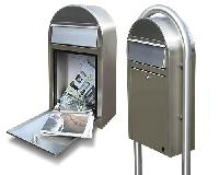 Original Bobi Grande S Postkasten 1/Stck ,Maße cm:32x60x15 ,Einwurf cm:8 x 26