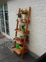 Holz Blumenleiter Helma 1/Stck  ,Maße (cm):L 58 x B 46 x H 177