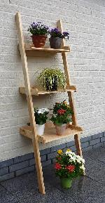 Holz Blumenleiter Kirsten 3-stufig