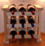 Holz Küchenweinregal Bordeaux