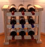 Holz K�chenweinregal Bordeaux