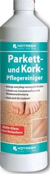 HOTREGA Parkett und Kork-Pflegereiniger 6.00Pack/Pack  ,Inhalt:1 Liter (Konzentrat) ,Gebinde:6 Stck.