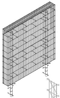 <b>BLICKS PROFESSIONAL</b> Gabionen (Grundmodul) Tiefe 23cm
