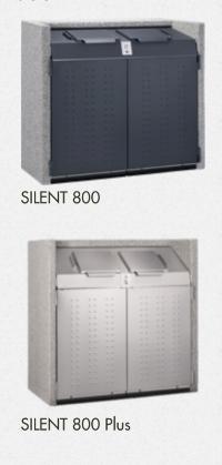 SILENT Serie 800 Beton-Mülltonnenbox [PAUL WOLFF®]
