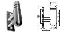 FACO Gel�nder-Stecksystem Wandhalter