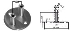 FACO Geländer-Stecksystem Wandhalter