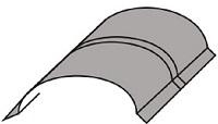 Luxmetall Tonnenfirst für LM D-Tile 1060