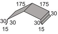 Luxmetall Winkelfirst Nr.26 für LM D-Tile 1060