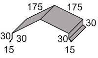 Luxmetall Winkelfirst Nr.26 f�r LM D-Tile 1060