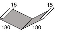Luxmetall Kehlblech Nr.15 für LM D-Tile 1060