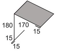 Luxmetall Pultabschluss Nr.5 f�r LM D-Tile 1060