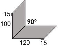 Luxmetall Maueranschluss Nr.21 für LM D-Tile 1060