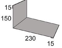 Luxmetall Maueranschluss Nr. 10B f�r LM D-Tile 1060