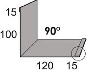 Luxmetall Maueranschluss Nr.21 A für LM D-Tile 1060
