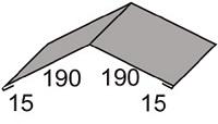 Luxmetall Firstkappe Nr. 1 f�r LM D-20/138, 35/207 und 18/76