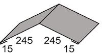 Luxmetall Firstkappe Nr. 1A f�r LM D-20/138, 35/207 und 18/76